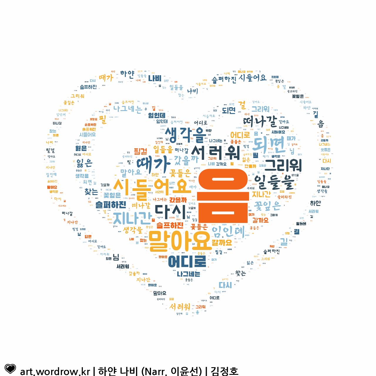 워드 아트: 하얀 나비 (Narr. 이윤선) [김정호]-36